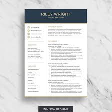 Modern Resume Template For Word Clean Resume Design Two Page Resume Download Simple Resume Template Cv Template For Word