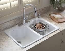 kohler porcelain sink. Kohler White Porcelain Double Kitchen Sink Regarding Precious Your Residence Decor Throughout
