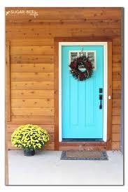 turquoise front doorDream Front Door  Sugar Bee Crafts
