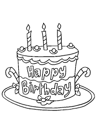 Want to send a special message of birthday cheer? Coloring Pages Printable Birthday Cake Coloring Page