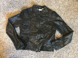 max studio faux leather jacket small s black