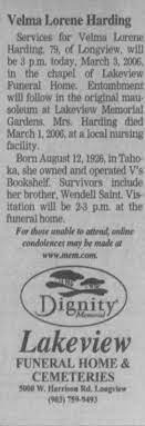 Obituary for Velma Lorene Harding, 1926-2006 (Aged 79) - Newspapers.com