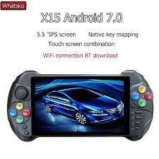 Powkiddy X15 Android Máy Chơi Game Cầm Tay 5.5 Inch Màn Hình Retro Máy Chơi  Game Core 2G Phù Hợp Với RAM 32G ROM Cầm Tay Tay Cầm|Handheld Game Players