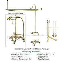 clawfoot tub to shower conversion kit get ations a polished brass tub faucet shower kit with