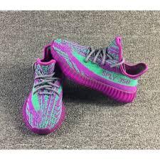 Purple Green Cheap Yeezy Boost 350 V2 Kids Purple Green Online Sale