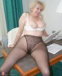 Granny In Stockings Sexy Stripers