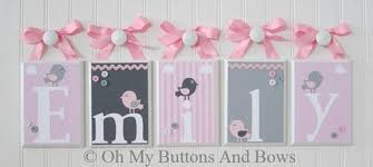 hanging name letters nursery name blocks nursery name decor baby name blocks hanging name blocks birds pink gray 8bcb8679