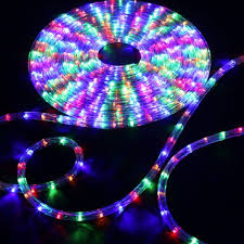 led rope light rgb multi color 100 feet back