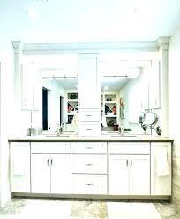 gray bathroom vanity with storage tower vanities furniture amusing ba