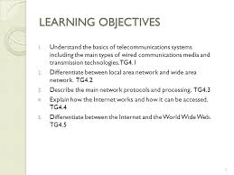 technology guide 4 1 telecommunications networks and the world 5 learning objectives