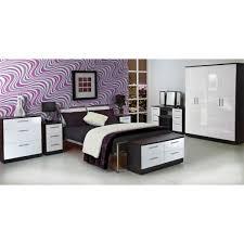 Purple High Gloss Bedroom Furniture Knightsbridge 4 Drawer Chest