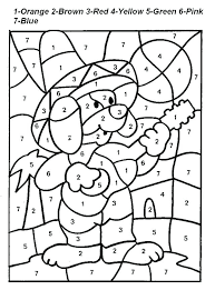 Color By Number Worksheets Addition Coloring Pages Color By Number ...