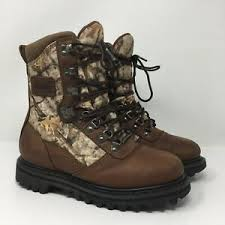 Details About Cabelas Iron Ridge Camo Leather Thinsulate Ultra Gortex Boots 81 3740 Size 3m