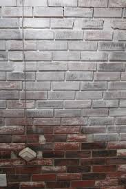 interior gorgeous picture of dark brown painting faux bricks for regarding proportions x simple how to