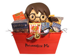 harry potter and the golden snitch personalized gift basket