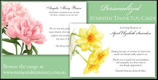 Funeral Words For Cards Inspiration New Sympathy Funeral Thank You Cards Personalized Memorial