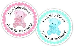 Pink Gingham Thank You Tags Baby Feet Custom Baby ShowerBaby Shower Tag