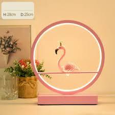 Circle <b>LED Modern</b> Bedroom <b>Resin</b> Nightstand <b>table</b> Lamp ...