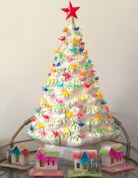 Ceramic Christmas Tree  Best For 2017 13 With Lights U0026 VintageCeramic Christmas Tree Vintage