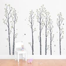 wall decals trees young birch forest wall decal wallums wall decor wall decals murals and prints on birch tree branch wall art with wall decals trees young birch forest wall decal wallums wall
