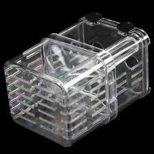 clear plastic seperate fish fry breeding divider tank for aquarium ws