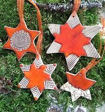 4 Sterne Aus Keramik Weihnachtsstern Handarbeit Keramikstern