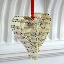 Bastelideen Mit Papier Herz Aus Notenpapier Bastelideen