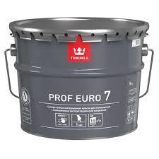 <b>Краска</b> моющаяся латексная <b>Tikkurila Prof</b> Euro 7 белая 9 л