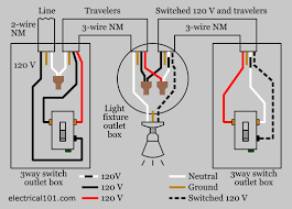 way switches electrical images switch wiring diagram light 120 v enters the first 3 way switch outlet box light fixture is