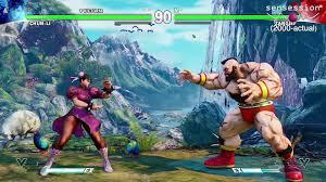 street fighter v gameplay ps4 sensession youtube