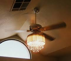 amazing ceiling fans with chandeliers regard to this lady combined a fan and crystal chandelier diy