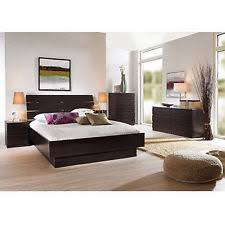 bedroom furniture. 4 Piece Full Bedroom Furniture Set Headboard Bed Platform Chest Nightstand New