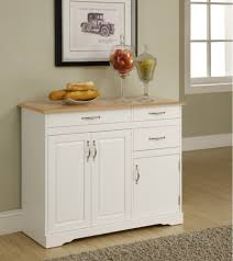 White Kitchen Furniture Kitchen Buffet Cabinet Hutch Roselawnlutheran