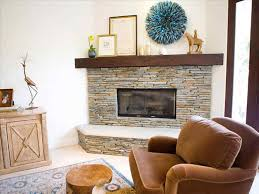 corner fireplace ideas with tv above