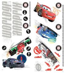 Disney Cars Growth Chart Wall Decals