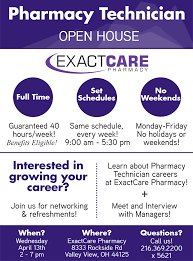 pharmacy technician hiring event  pharmacy technician open house announcement