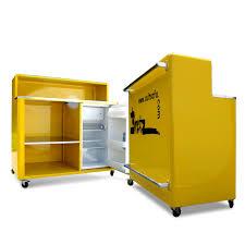 Details Zu Bretz Barschrank Metallmöbel Designklassiker Bar Kühlschrank Raumteiler Küche