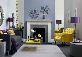 Gray And Purple Living Room Set Picture Of Grey Yellow