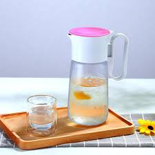 glass pitcher with lid hot cold water carafe juice jar and iced with glass pitchers with glass pitchers with lids