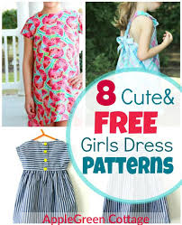 Dress Patterns Free Simple 48 Adorable Free Little Girl Dress Patterns AppleGreen Cottage