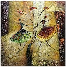 Metuu Oil <b>Paintings</b>, Ballet Dancer Girl <b>Paintings Modern Home</b> ...