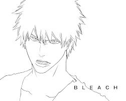 Bleach Artbook Ichigo Lineart Psd By