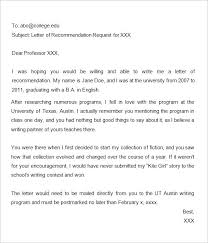 Requesting For Recommendation Letter Sample How To Ask For A Recommendation Letter From A Professor Ohye