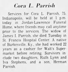Obituary for Cora L. Par Hah (Aged 75) - Newspapers.com