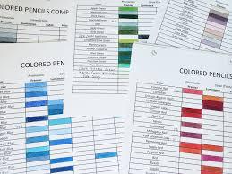 Caran D Ache Pablo Color Chart Free Colored Pencil Comparison Chart Beth Henry Art