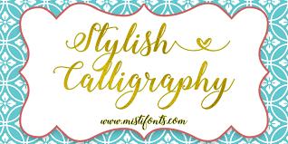 stylish calligraphy font dafont com
