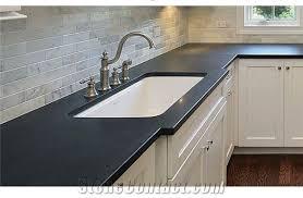 corian black solid surface kitchen perimeter top