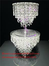 acrylic crystal wedding chandelier cake stand pertaining to contemporary home stands plan diy