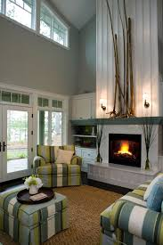 modern earth design how to decorate a tall fireplace wall