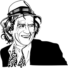 Keith Richards Vector Portrait Free Vector In Encapsulated
